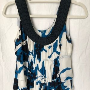 Tory Burch blue & white blouse